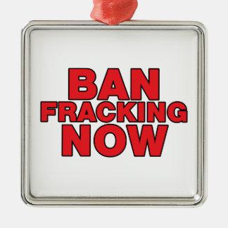 Ban Fracking Now Christmas Ornament