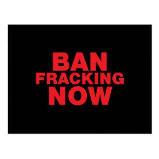 Ban Fracking Now Postcard
