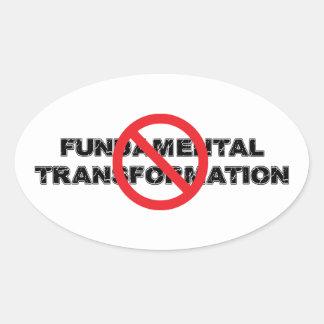 Ban Fundamental Transformation Oval Sticker