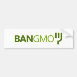 BAN GMO BUMPERSTICKER BUMPER STICKER