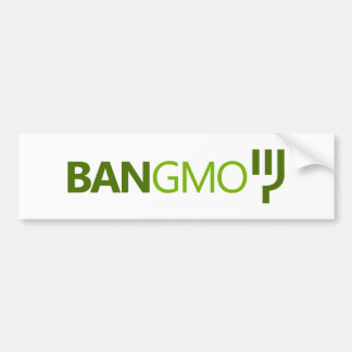 BAN GMO BUMPERSTICKER BUMPER STICKER