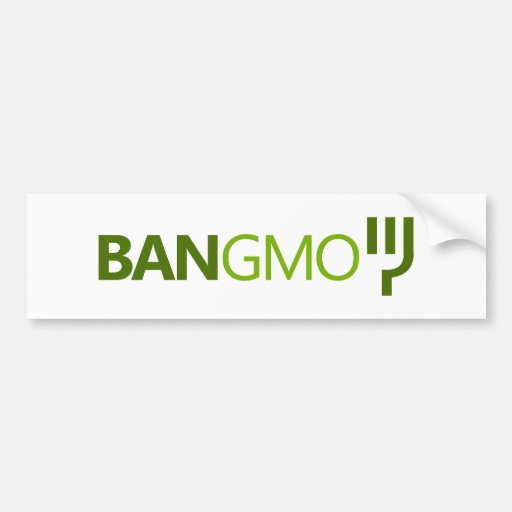 BAN GMO BUMPERSTICKER CAR BUMPER STICKER