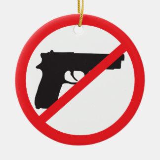 Ban Guns Anti-Gun Pacifist Christmas Ornaments