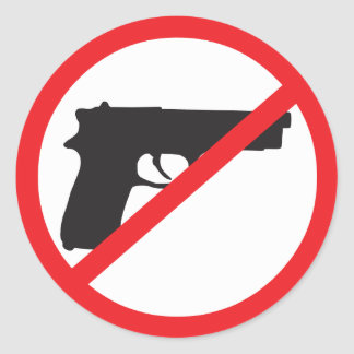Ban Guns Anti-Gun Pacifist Classic Round Sticker