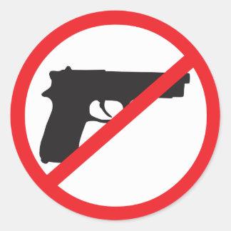 Ban Guns Anti-Gun Pacifist Classic Round Sticker