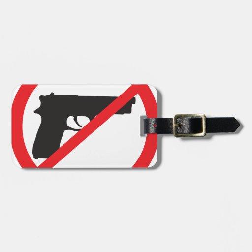 Ban Guns Anti-Gun Pacifist Luggage Tags