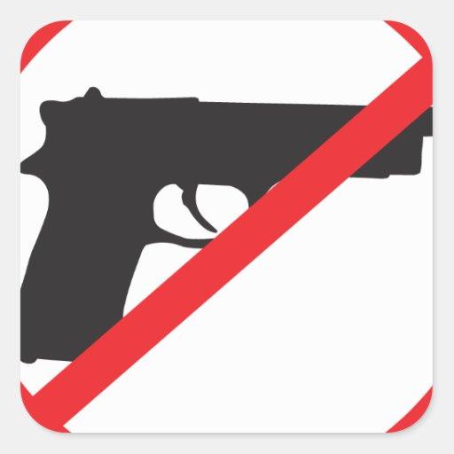 Ban Guns Anti-Gun Pacifist Square Sticker