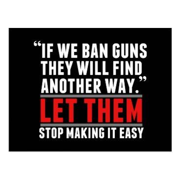 Lawyer Themed Ban Guns - Support Gun Reform Postcard