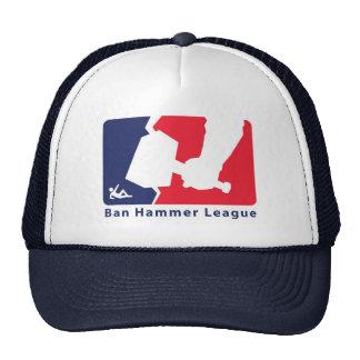 Ban Hammer League Cap to keep the newbies at bay. Trucker Hat