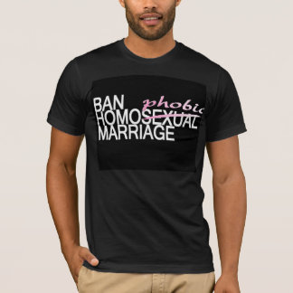 Ban HomoPHOBIC Marriage T-Shirt