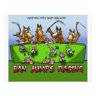 BAN HORSE JUMPS RACING FLYER