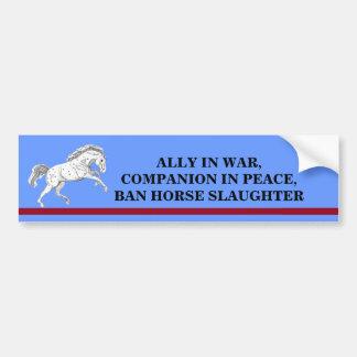 Ban Horse Slaughter Running Horse Bumper Sticker