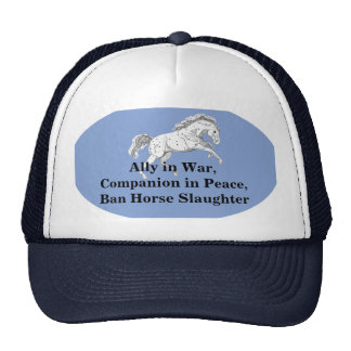 Ban Horse Slaughter Running Horse Trucker Hat