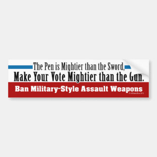 Ban Military-Style Assault Weapons Car Bumper Sticker