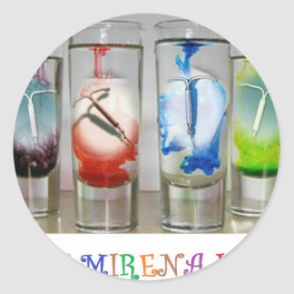 Ban Mirena IUD Classic Round Sticker