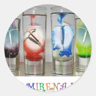 Ban Mirena IUD Products Classic Round Sticker