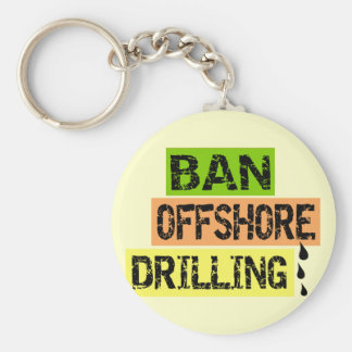 BAN OFFSHORE DRILLING KEYCHAINS