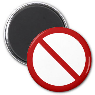 Ban or Prohibit Symbol 2 Inch Round Magnet