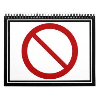 Ban or Prohibit Symbol Calendar