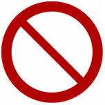 Ban or Prohibit Symbol Cut Out