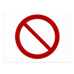 Ban or Prohibit Symbol Post Cards