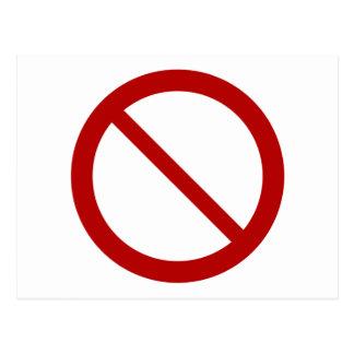 Ban or Prohibit Symbol Postcard