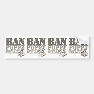 Ban Puppy Mills Bumper Sticker