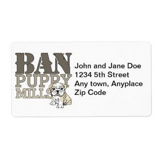 Ban Puppy Mills Label