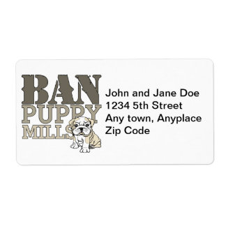 Ban Puppy Mills Labels