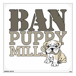 Ban Puppy Mills Wall Sticker