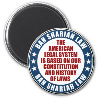 Ban Shariah Law 2 Inch Round Magnet