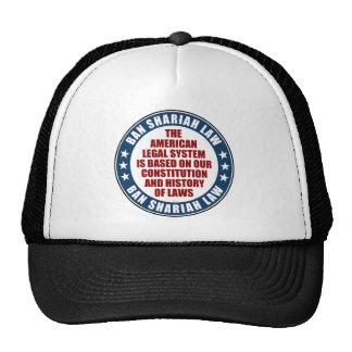 Ban Shariah Law Trucker Hats