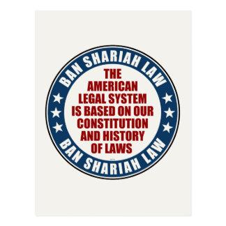 Ban Shariah Law Post Card