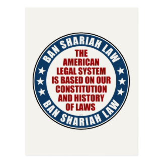 Ban Shariah Law Postcard