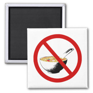 ban shark fin soup 2 inch square magnet