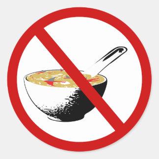 ban shark fin soup classic round sticker