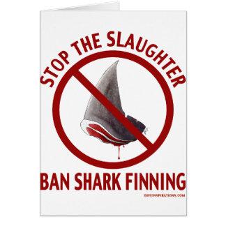 Ban Shark Finning Card