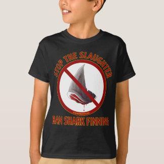 Ban Shark Finning Kid's Dark Shirt