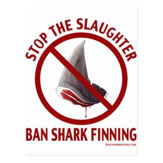 Ban Shark Finning Postcard