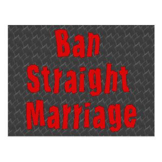 Ban Straight Marriage Postcard