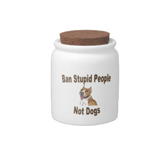 Ban Stupid People Notebook Candy Jar