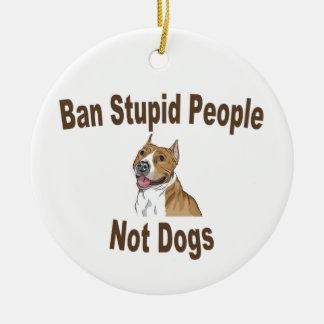 Ban Stupid People Notebook Christmas Tree Ornament