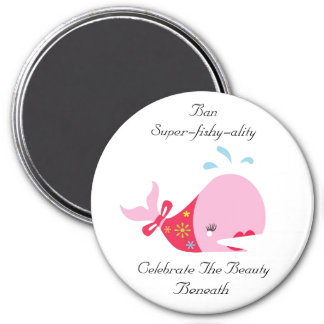 Ban Super-Fishy-Ality_Pinkie The Whale 3 Inch Round Magnet