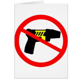 Ban tazers symbol. card
