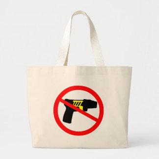 Ban tazers symbol. large tote bag