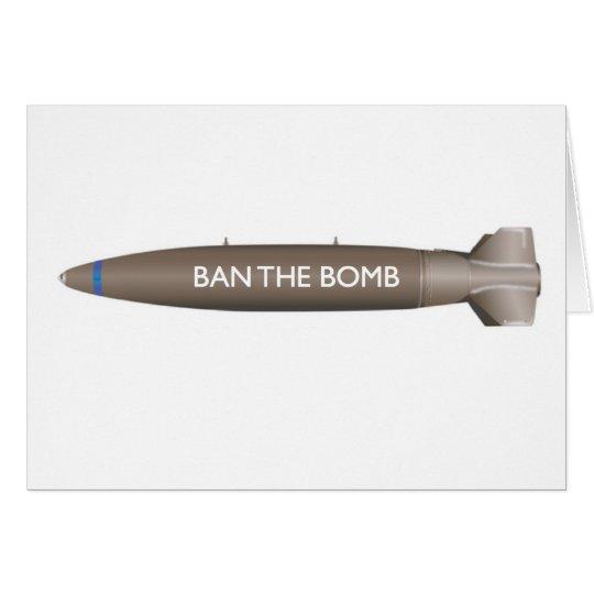 BAN THE BOMB CARD