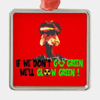 Ban the bomb christmas tree ornament