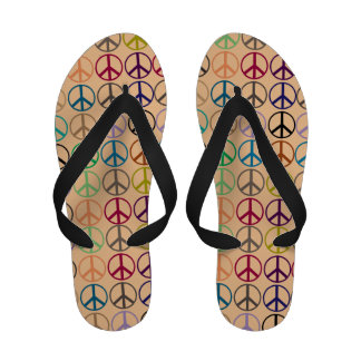 Ban the Bomb CND Peace Sign Sandals