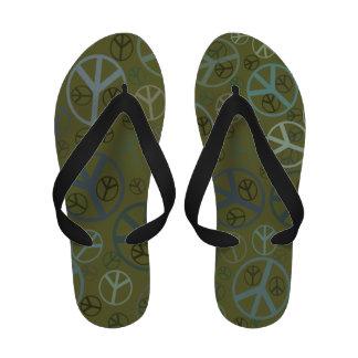 Ban the Bomb CND Peace Symbol Sandals