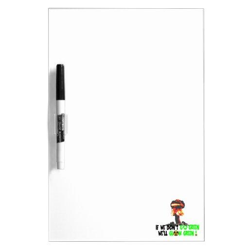 Ban the bomb dry erase white board